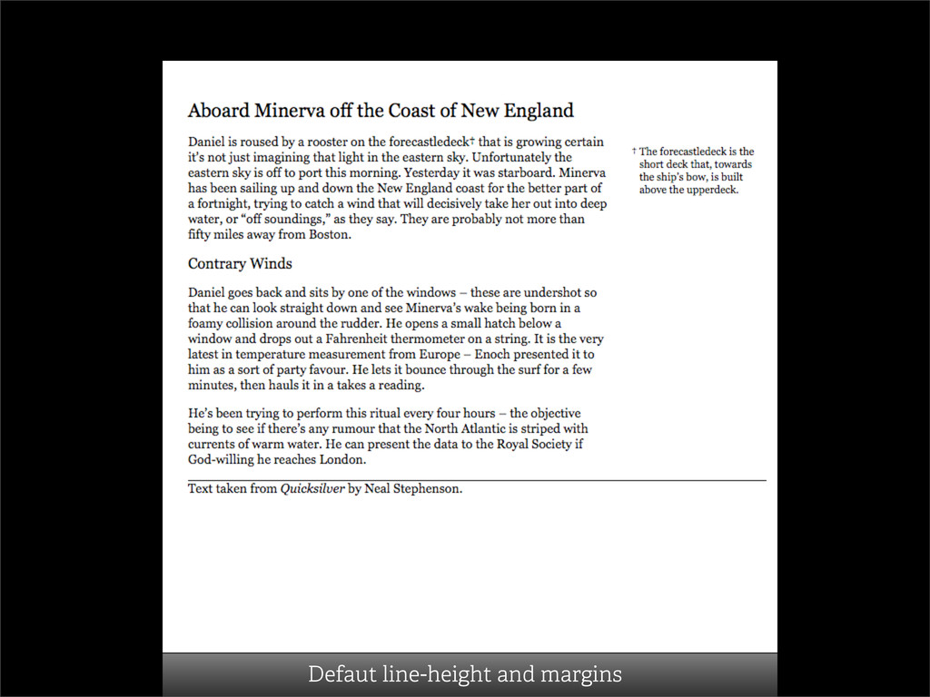 Defaut line-height and margins