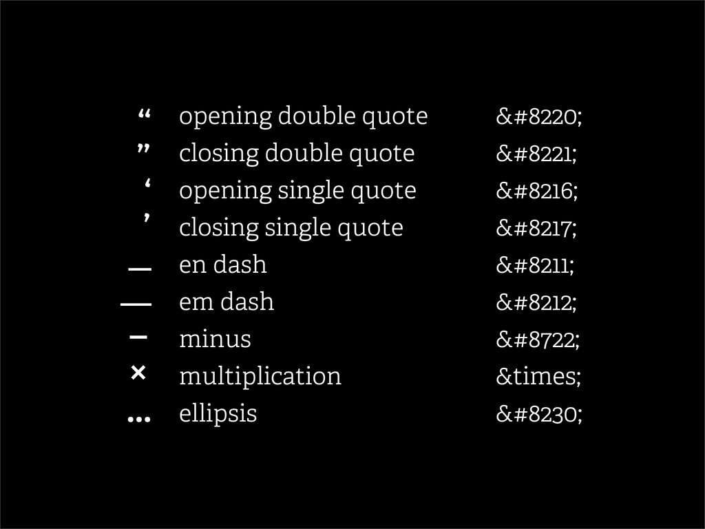 """opening double quote """" closing double quo..."""