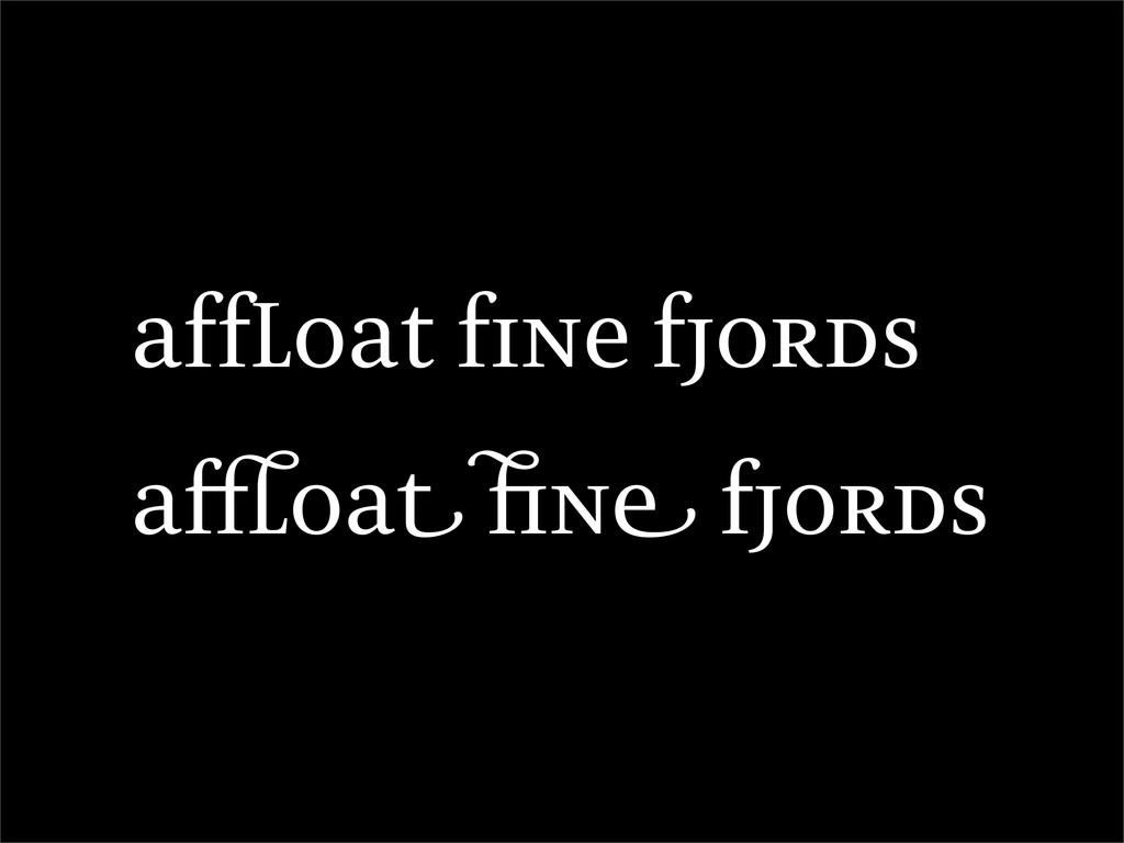 affloat fine fjords a oa n fjords