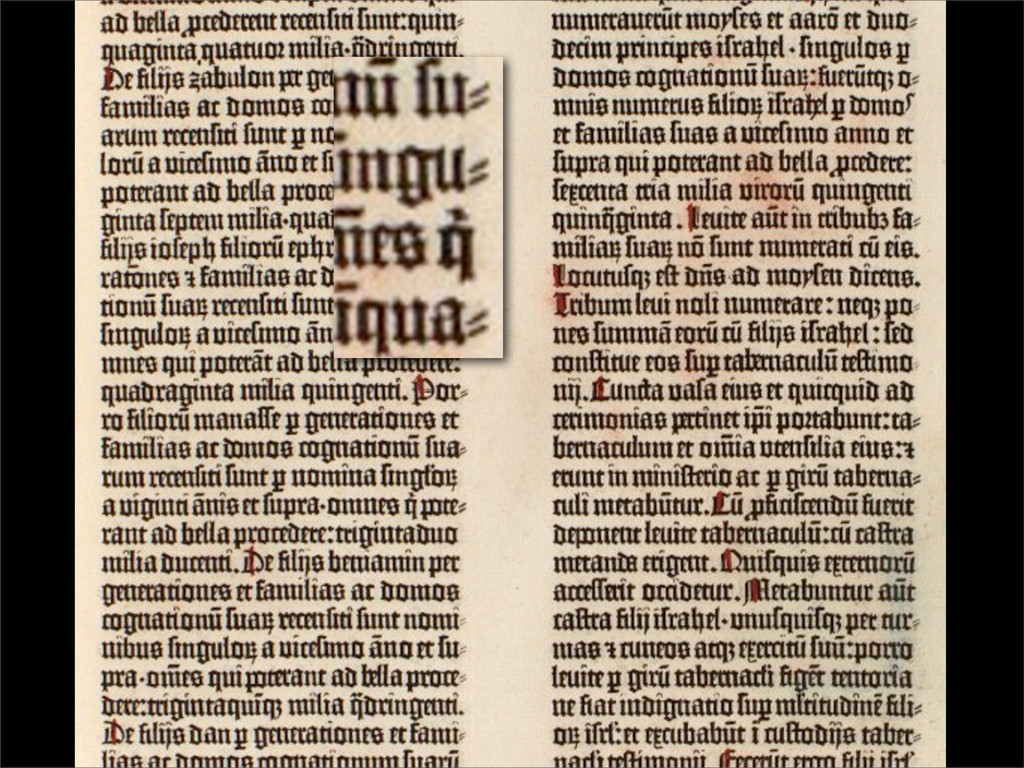 Hyphenation in the Gutenberg Bible