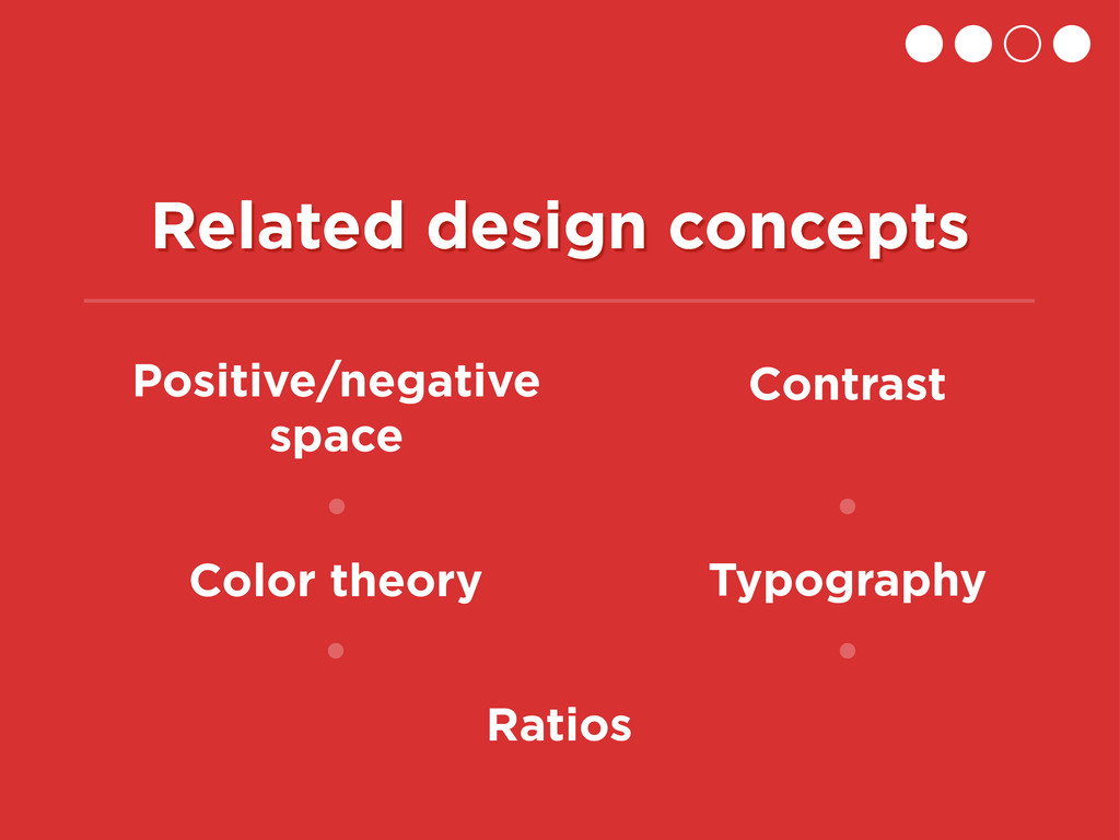 Related design concepts Positive/negative space...