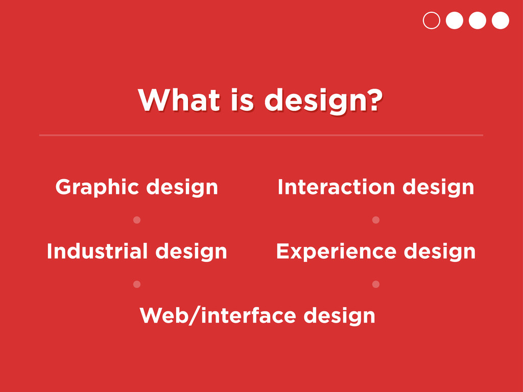What is design? Graphic design Industrial desig...