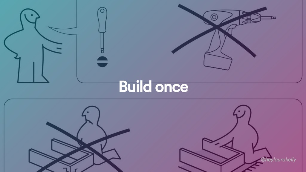 Build once @heylaurakelly