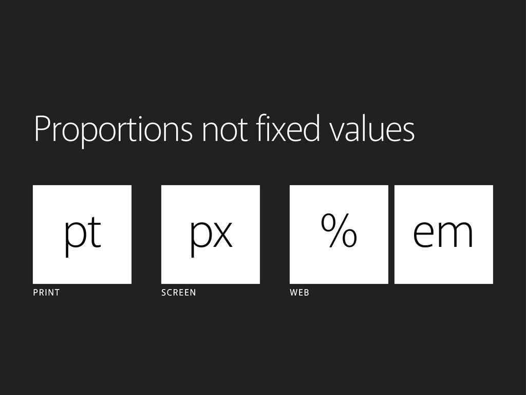 pt px PRINT SCREEN WEB % em Proportions not fix...