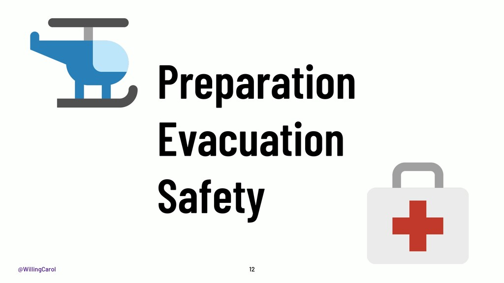 @WillingCarol Preparation Evacuation Safety 12