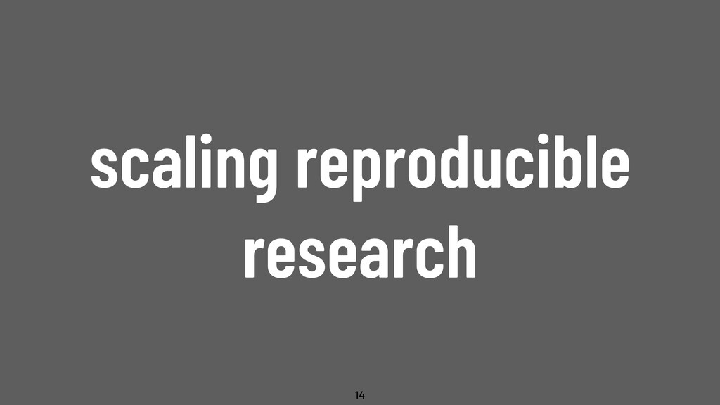 @WillingCarol scaling reproducible research 14