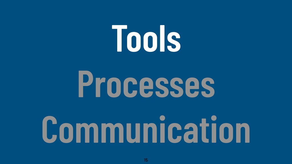 @WillingCarol Tools Processes Communication 15