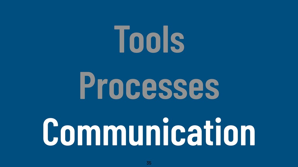 @WillingCarol Tools Processes Communication 35