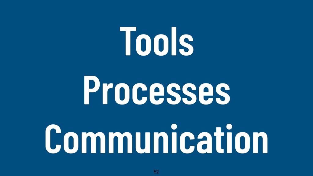 @WillingCarol Tools Processes Communication 52