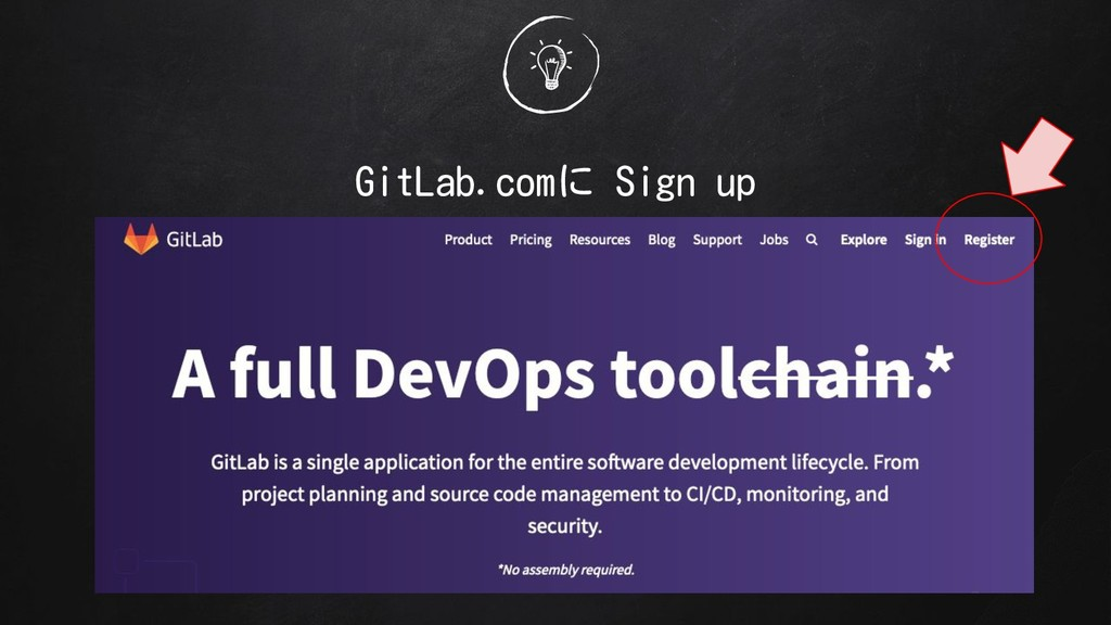 GitLab.comに Sign up