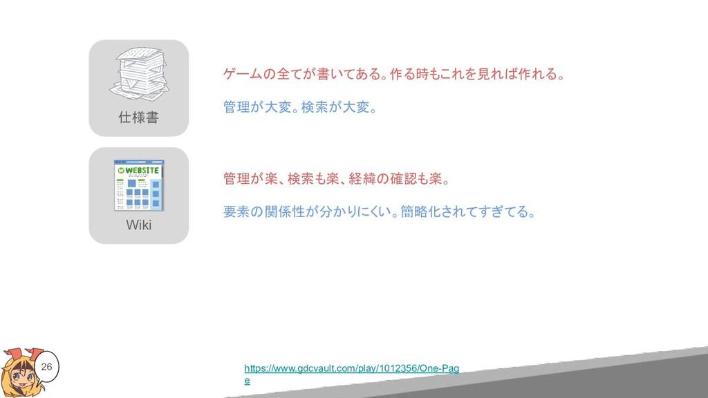 Wiki 仕様書 26 https://www.gdcvault.com/play/10123...