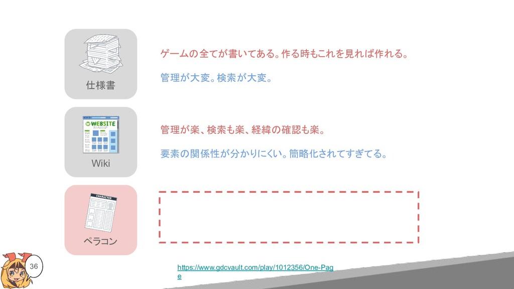 Wiki ペラコン 仕様書 36 https://www.gdcvault.com/play/...