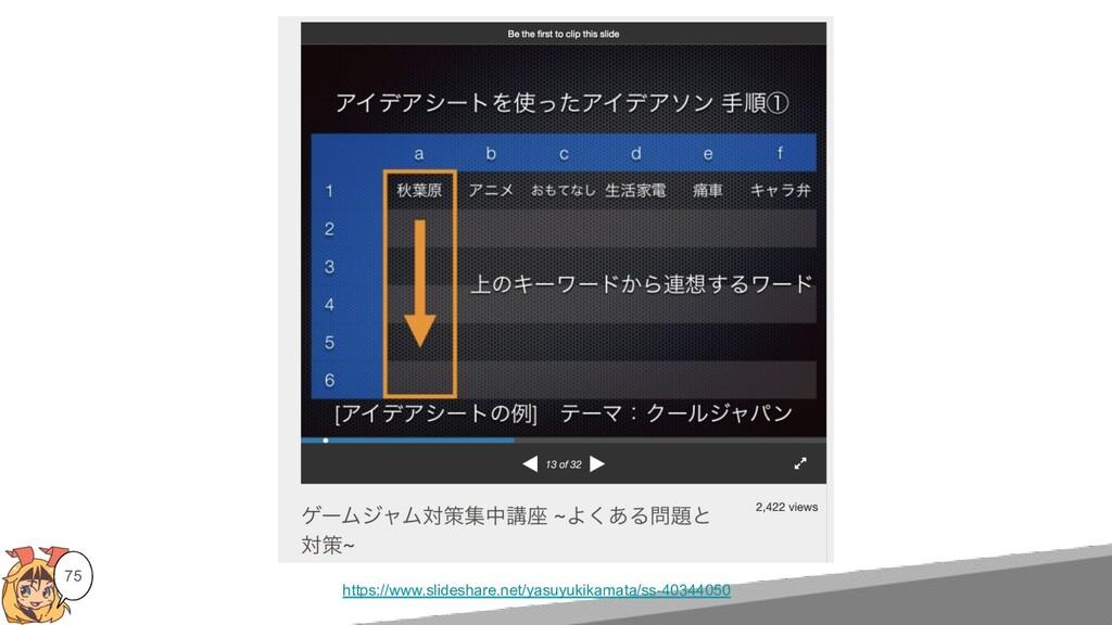 75 https://www.slideshare.net/yasuyukikamata/ss...