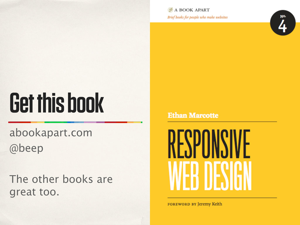 Get this book abookapart.com @beep The other bo...