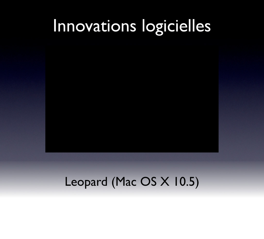 Innovations logicielles Leopard (Mac OS X 10.5)