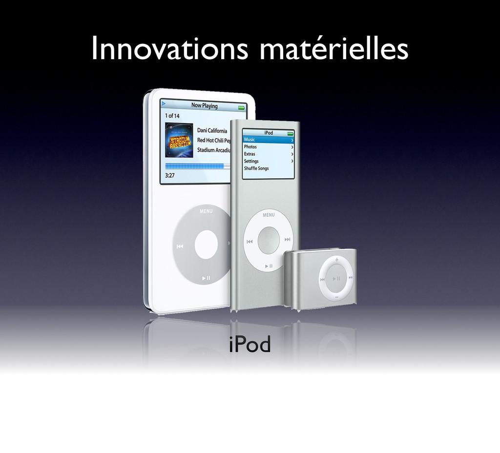 Innovations matérielles iPod