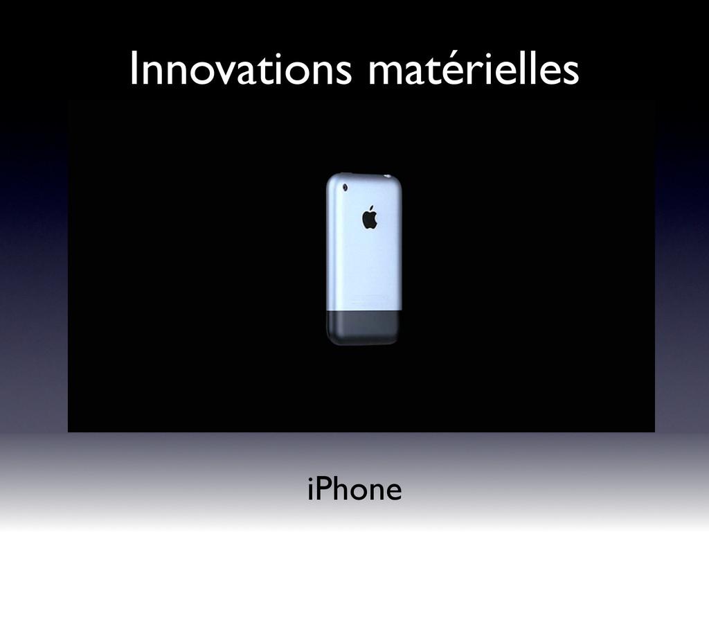 iPhone Innovations matérielles