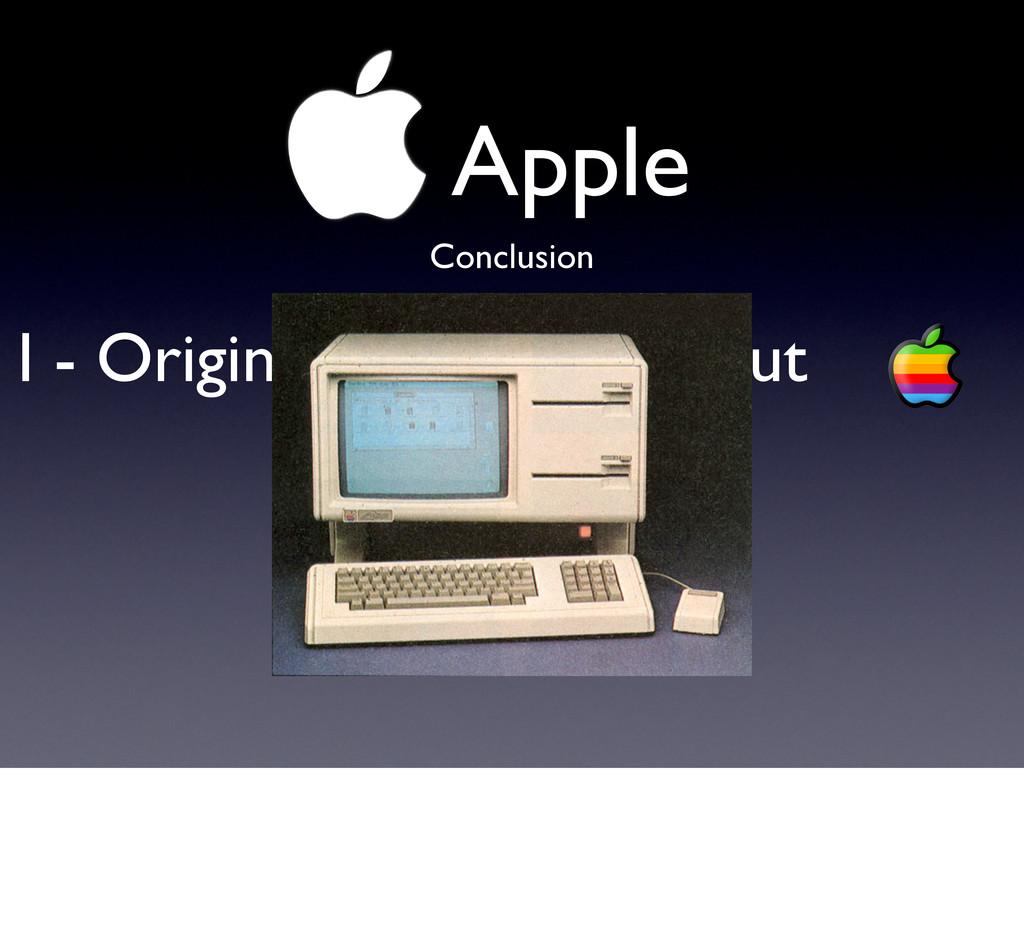 !Apple I - Originale depuis le début Conclusion