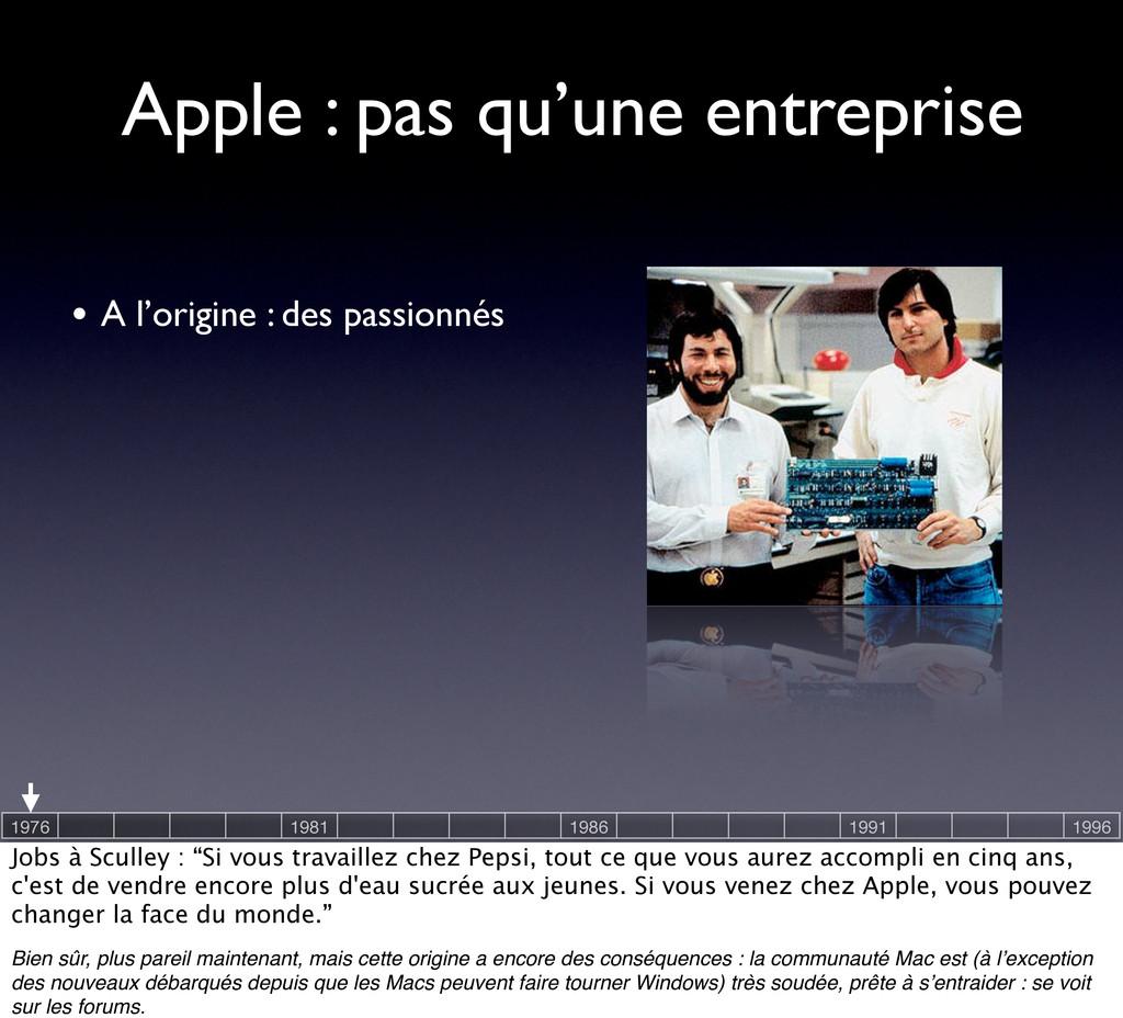 Apple : pas qu'une entreprise • A l'origine : d...