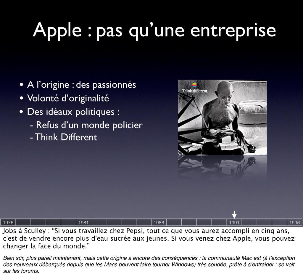 Apple : pas qu'une entreprise • Volonté d'origi...