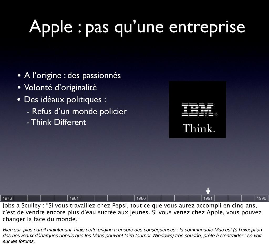 Think. Apple : pas qu'une entreprise • Volonté ...