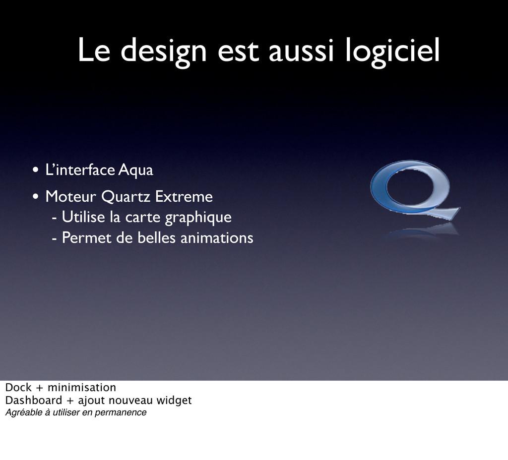 Le design est aussi logiciel • L'interface Aqua...
