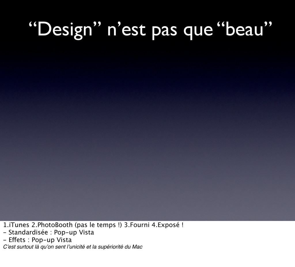 """""""Design"""" n'est pas que """"beau"""" 1.iTunes 2.PhotoB..."""