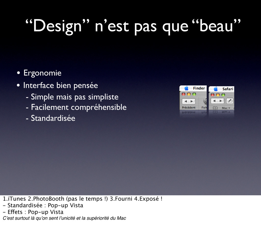 """""""Design"""" n'est pas que """"beau"""" • Interface bien ..."""