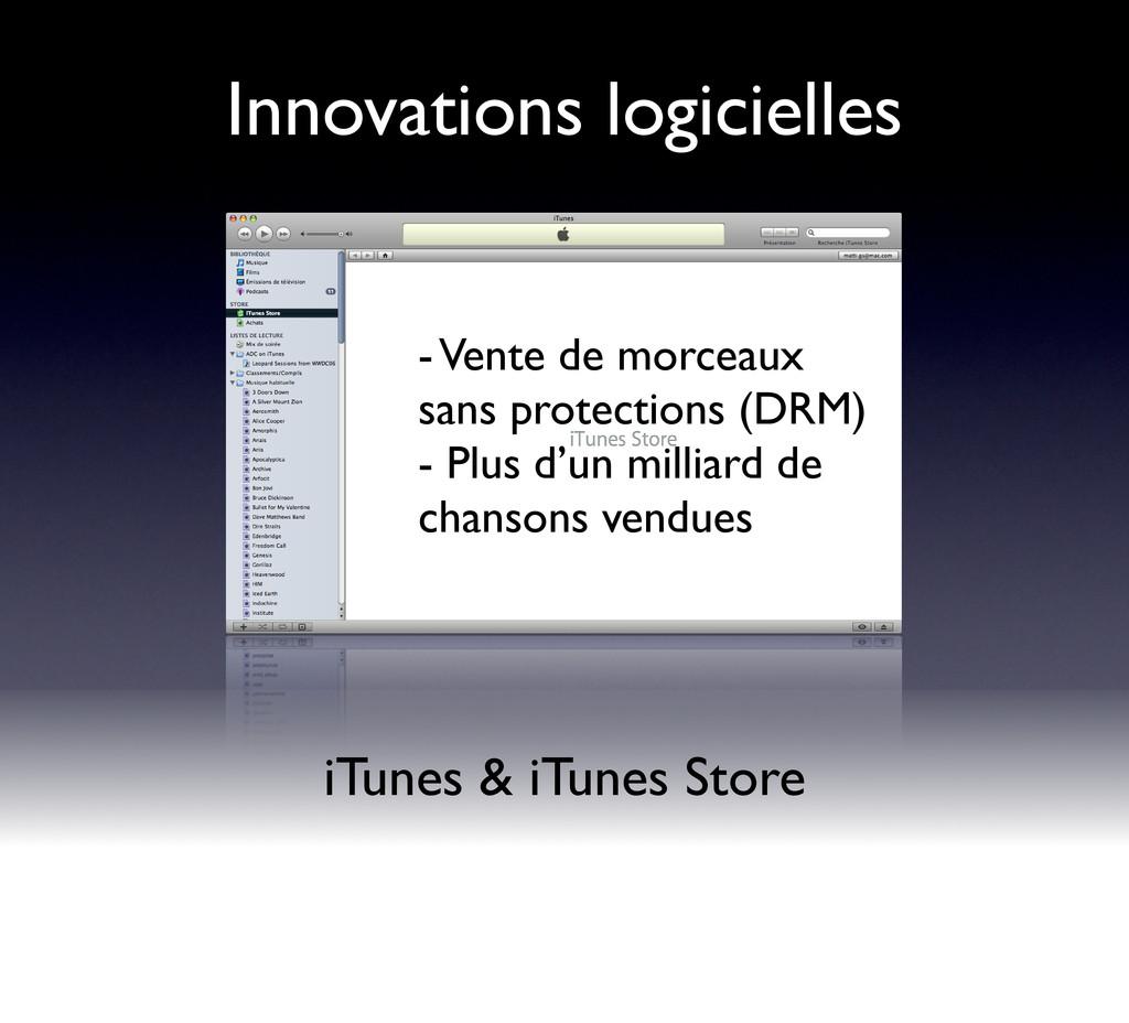 Innovations logicielles iTunes & iTunes Store -...