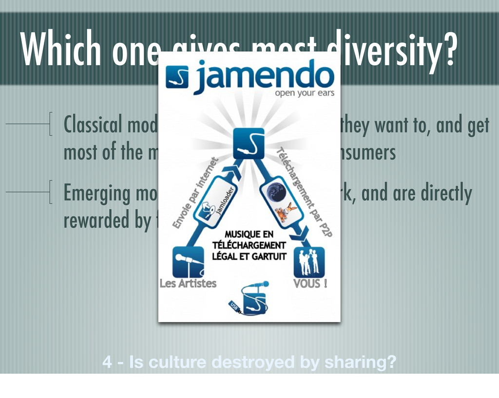 Which one gives most diversity? Classical model...