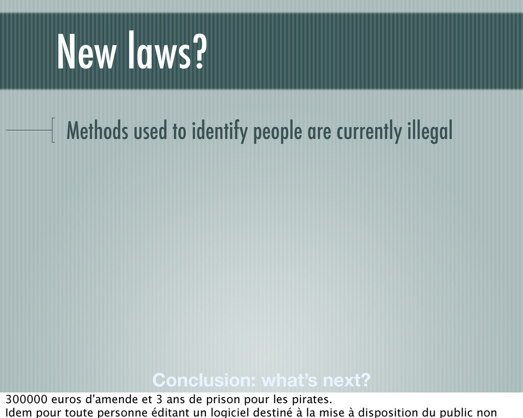 Methods used to identify people are currently i...