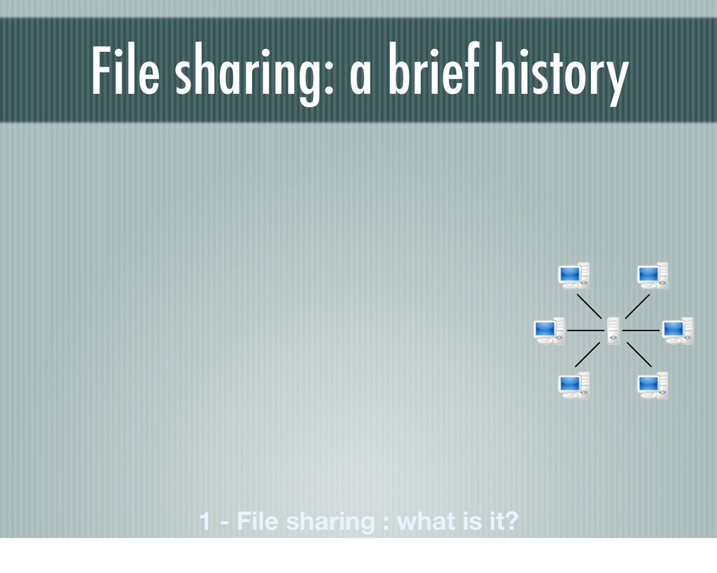 File sharing: a brief history 1 - File sharing ...