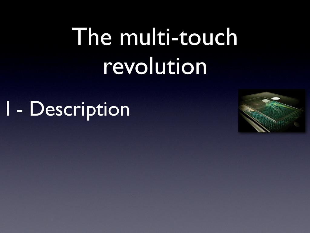 I - Description The multi-touch revolution