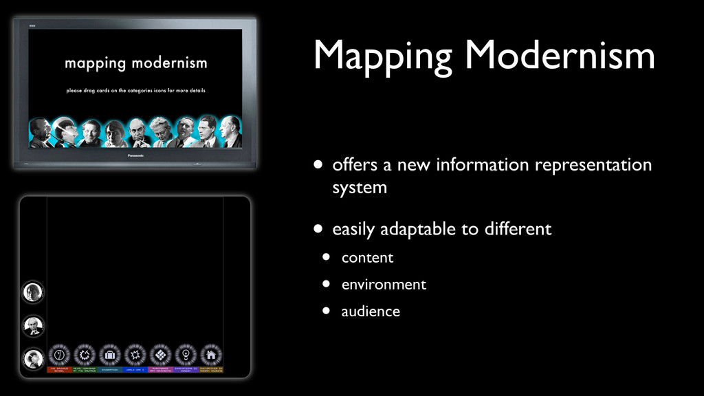 Mapping Modernism • offers a new information re...