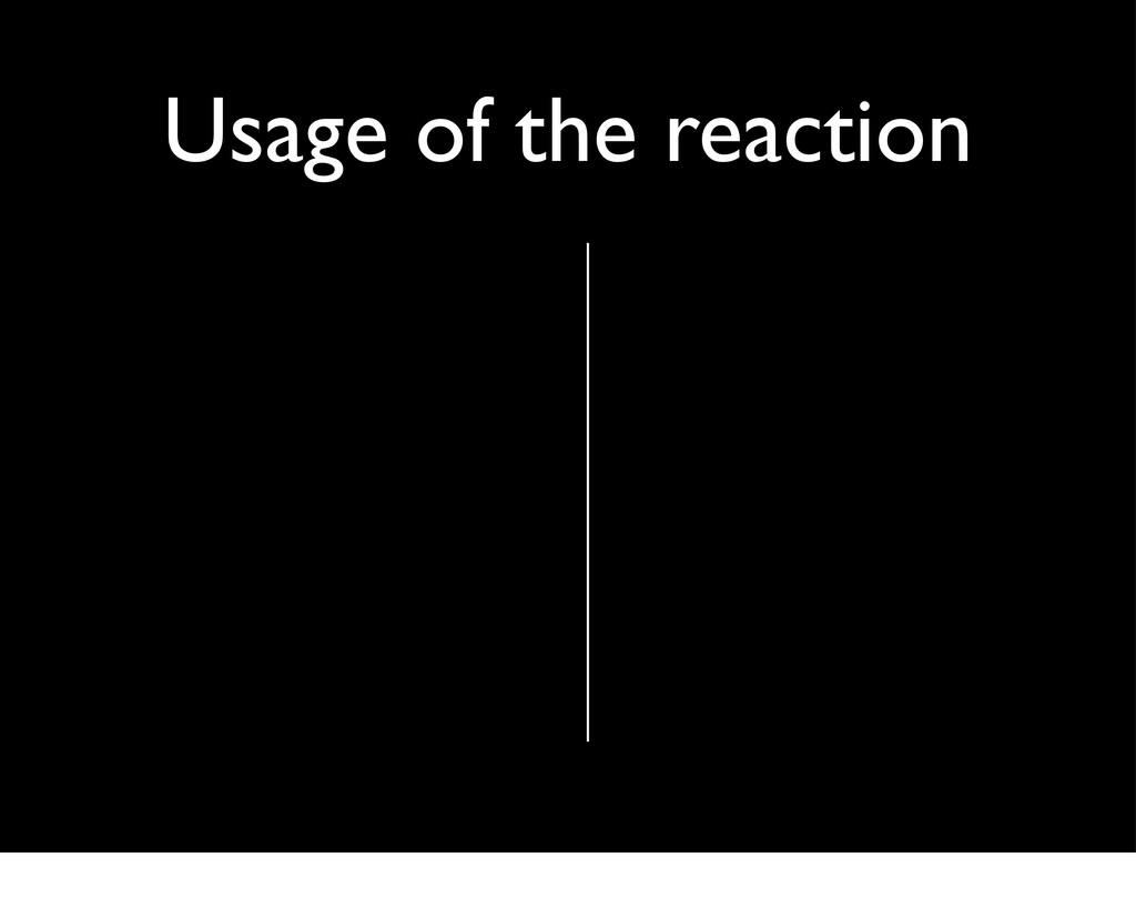 Usage of the reaction
