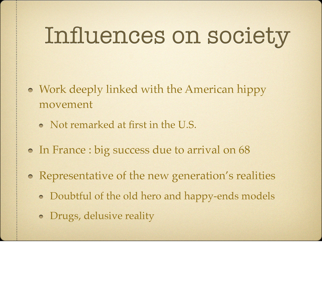 Influences on society Work deeply linked with th...