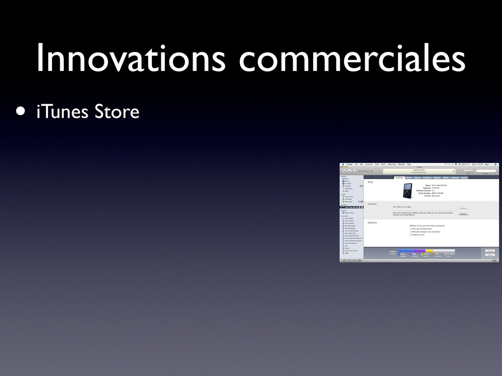 Innovations commerciales • iTunes Store