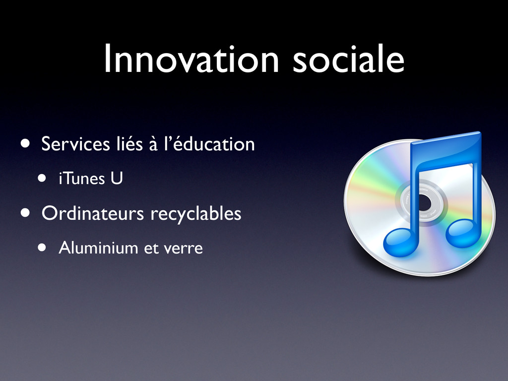 Innovation sociale • Services liés à l'éducatio...