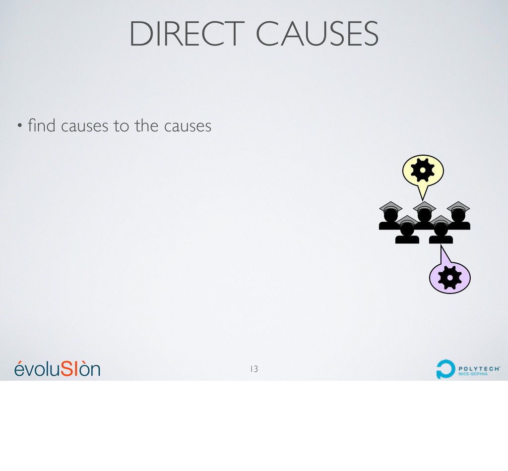 évoluSIòn ´ ` DIRECT CAUSES 13 • find causes to ...