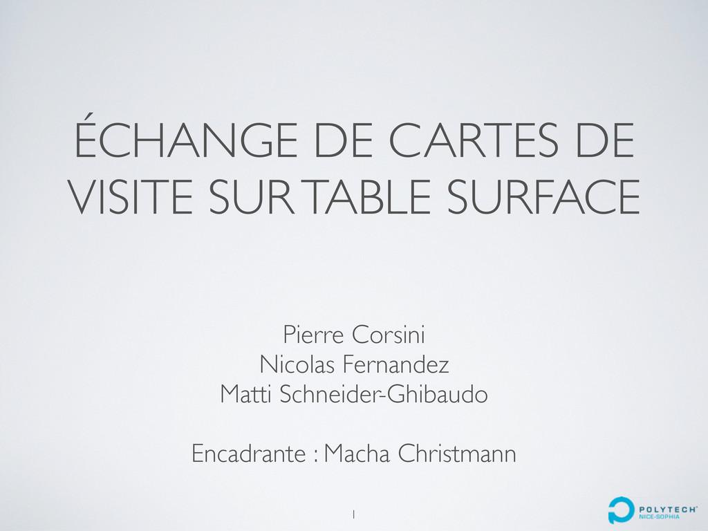 ÉCHANGE DE CARTES DE VISITE SUR TABLE SURFACE P...