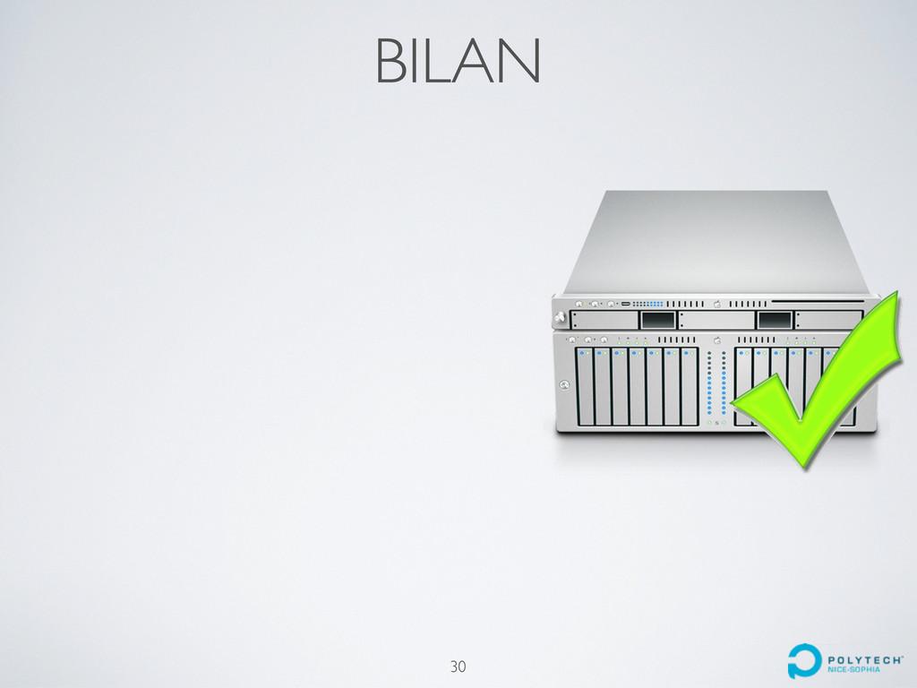 BILAN 30