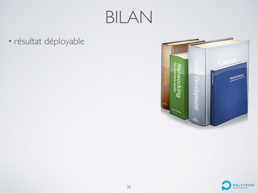 BILAN • résultat déployable 30