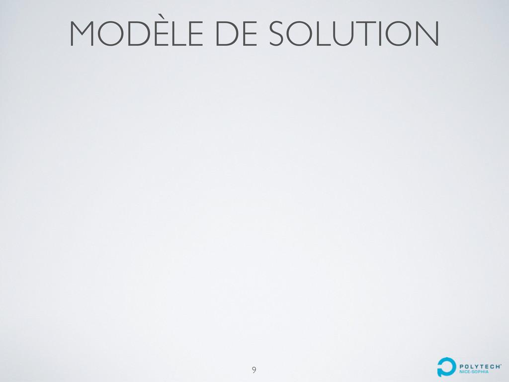 MODÈLE DE SOLUTION 9