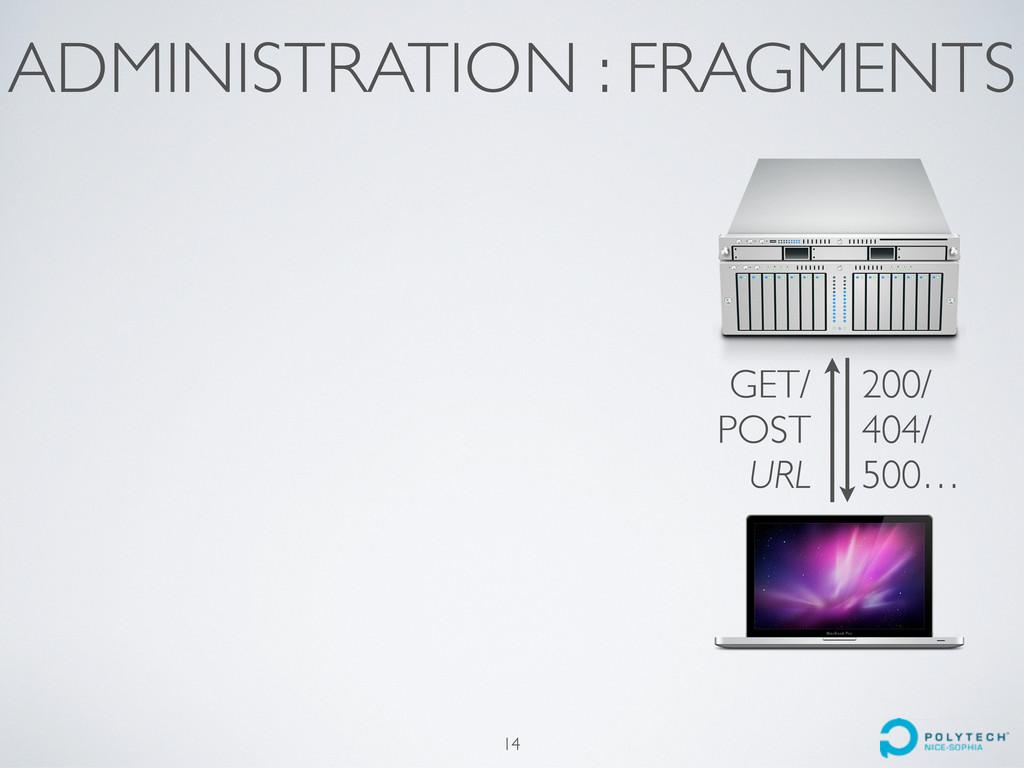 ADMINISTRATION : FRAGMENTS 14 GET/ POST URL 200...