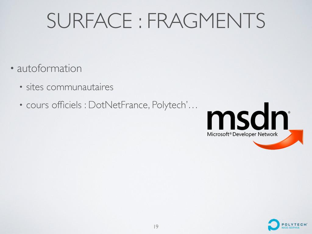 SURFACE : FRAGMENTS • autoformation • sites com...