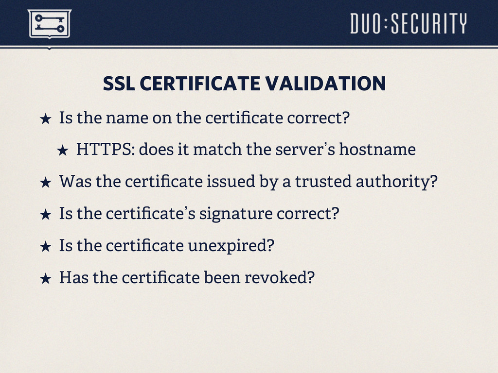 SSL CERTIFICATE VALIDATION ˒ Is the name on th...