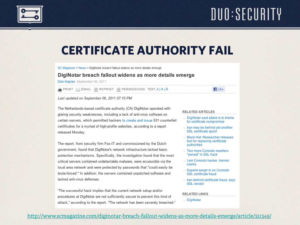 CERTIFICATE AUTHORITY FAIL h p://www.scmagazine...