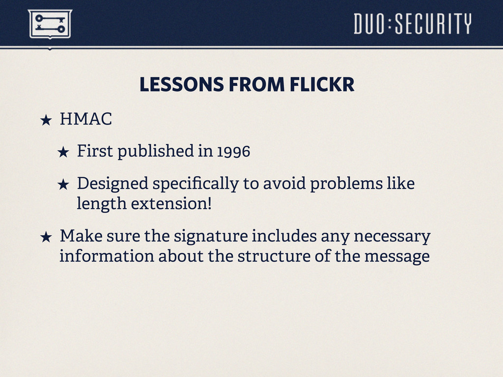 LESSONS FROM FLICKR ˒ HMAC ˒ First published ...