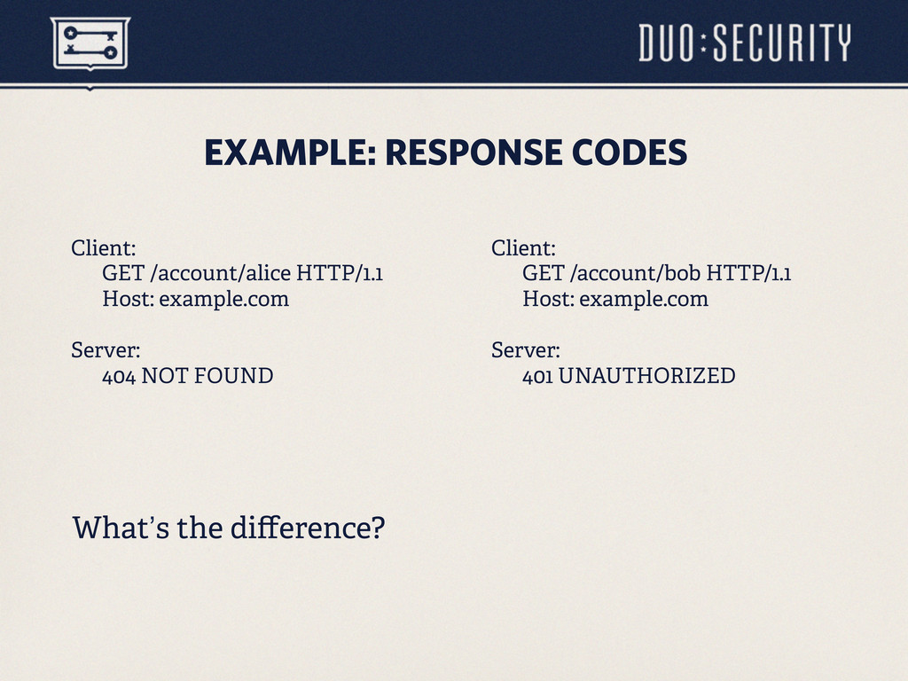 EXAMPLE: RESPONSE CODES Client: GET /account/al...