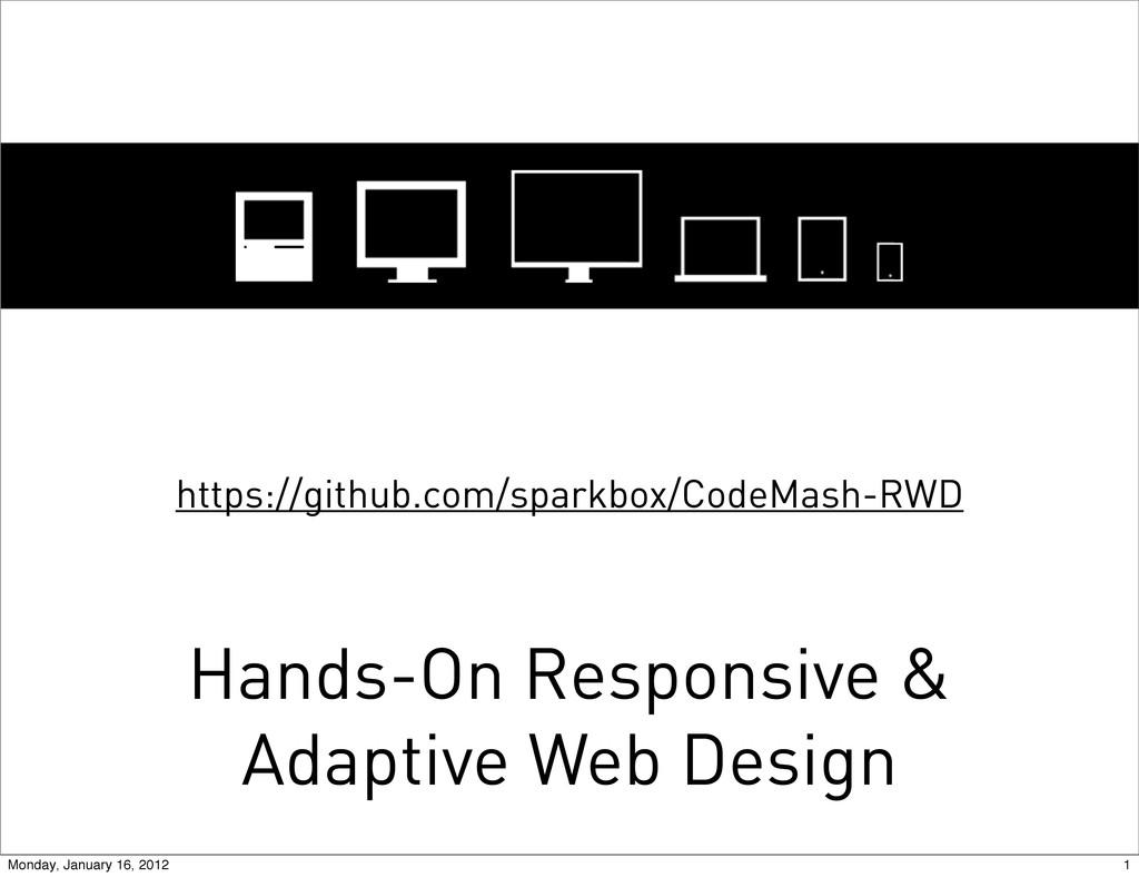 Hands-On Responsive & Adaptive Web Design https...